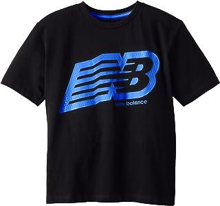 New Balance Big Boys' Neon Print Nb Graphic Jersey T-Shirt