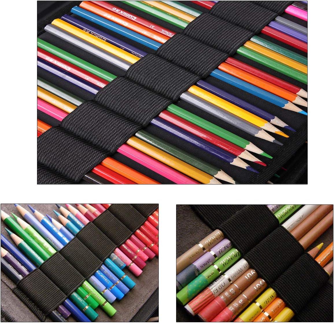 Chat de sport marqueurs papeterie Organisateur pour l/école et bureau BOMKEE Trousse de Crayons 166 Slots Sac de Rangement Crayons de Couleur Prismacolor crayons aquarelle