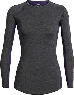 Icebreaker Womens Merino BodyfitZONE™ 200 Zone Long Sleeve CreweThermal Base Layer Top