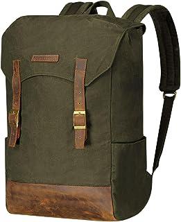 Powderhorn Backpack Retro Rucksack Leder Vintage Daypack Laptopfach