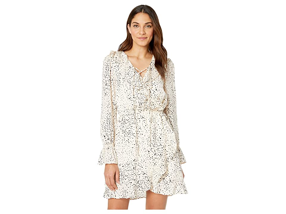 Cupcakes and Cashmere Justice Dot Refullfe Detailed Dress (Ivory) Women