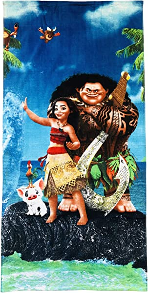 Moana Maui And Pua The Pig Towel