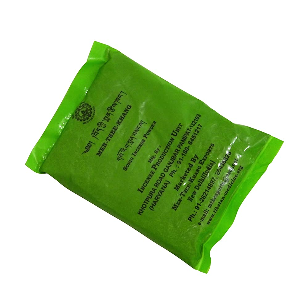 どこかメタルラインスピーカーメンツィーカン チベット医学暦法研究所メンツィーカンのお香 グリーン袋【TIBETAN SORIG INCENSE POWDERソリグパウダー】