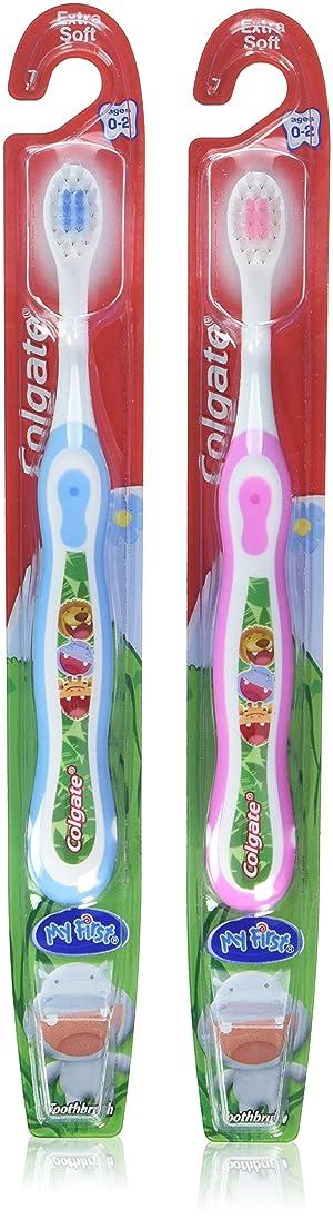 策定する調整する論争Colgate 子供の私の最初の歯ブラシ、ソフト、年齢0-2(色は異なります)1 Eaは(6パック)