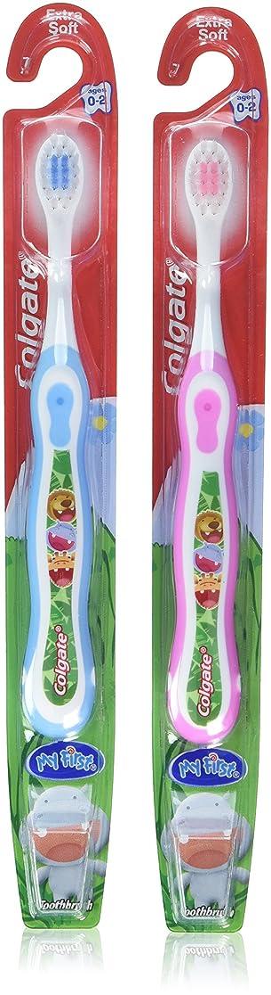 洗剤抗議投資Colgate 子供の私の最初の歯ブラシ、ソフト、年齢0-2(色は異なります)1 Eaは(6パック)