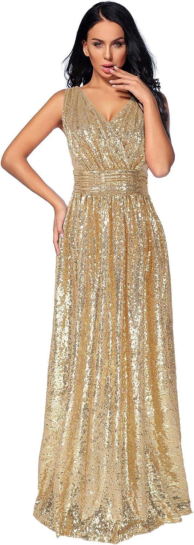NeeMee Women's Sequin Bridesmaid Dress Evening New Ranking TOP2 life Banquet Form Prom