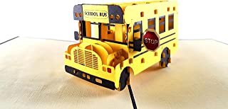 iGifts and Cards Magic School Bus 3D Pop up Greeting Card - Driver, Student, Unique, Big, Half Fold, Get Well, Graduation, Just Because, Teacher Appreciation, Retirement, Happy Birthday, Friendship