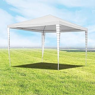 wolketon Pavillons 3 x 3 m Partyzelt für Garten Terrasse Markt Camping Festival als Unterstand Gartenpavillon weiß zelt