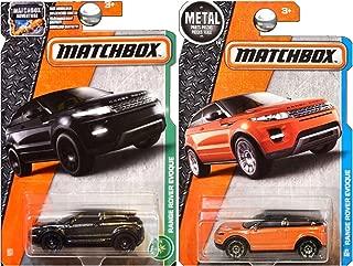 Matchbox Land Range Rover Evoque in Black and Orange Copper SET OF 2