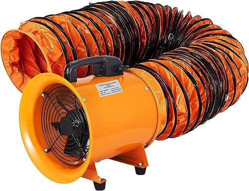 wholesale OrangeA Utility Blower Fan 10 inch Portable online Ventilator High Velocity Utility Blower Mighty Mini Low Noise outlet online sale with 10M Duct Hose (10 inch Fan with 10M Hose), orange online sale