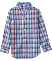 Williams Plaid Whale Shirt (Toddler/Little Kids/Big Kids)