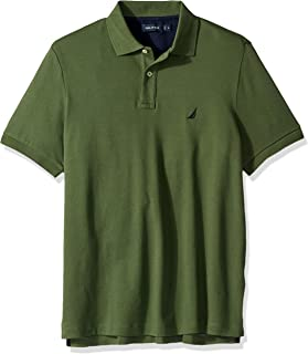 Nautica Men`s Classic Fit Short Sleeve Solid Soft Cotton Polo Shirt