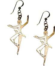 product image for Dancing for Peace Filigree Peace Bronze Earrings on French Hooks