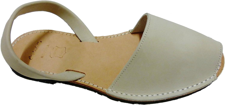 Authentic Menorcan Sandals, color whiteo Hielo Nobuck, Avarcas Menorquínas Abarcas, Albarcas. White ice