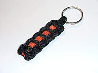 Redvex Thin Orange Line Paracord Key Chain/Key Fob/Lanyard Pull - by Black with Orange Line - 3