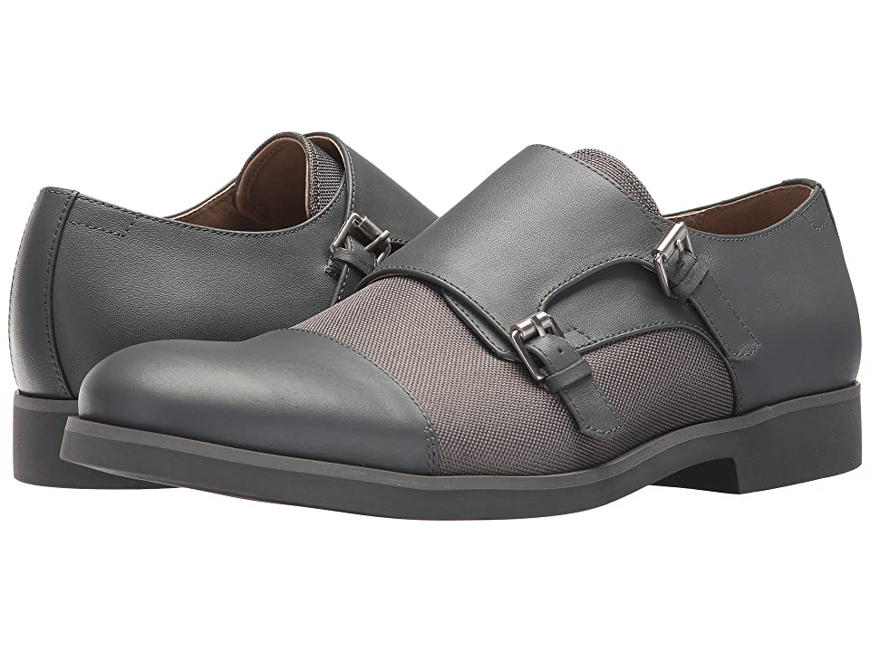 Calvin Klein Finch (Grey Nappa/Ballistic Nylon) Men