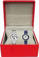 ATORAKUSHON Leatherette Couple Watch/ Jewellery Storage Box (Red)