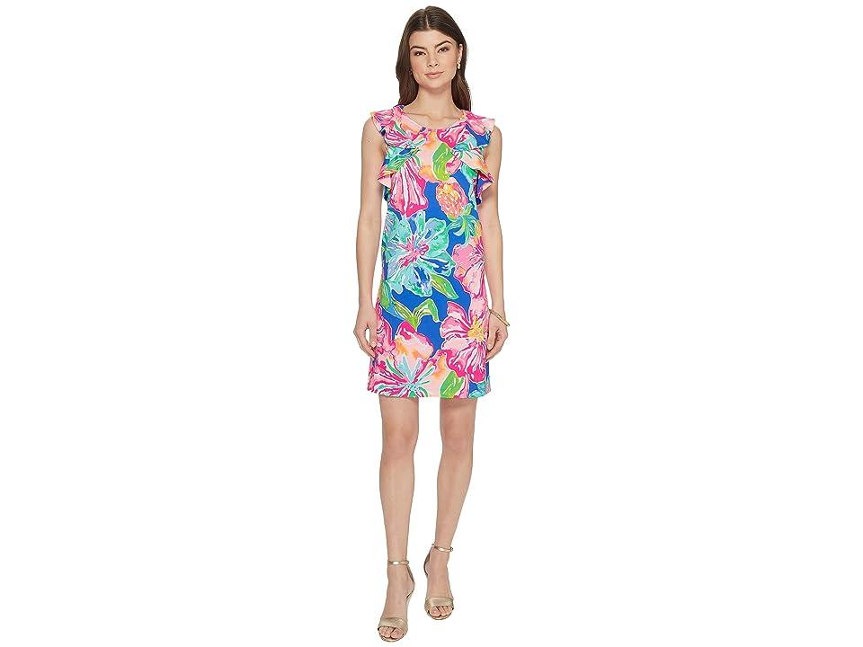 Lilly Pulitzer Esmeralda Dress (Beckon Blue Jungle Utopia) Women