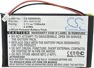Battery for Nuvi 600 610 610T 650 660 660 FM 670 680 010-00455-00 010-00540-70 361-00019-02 D25292-0000 (Li-Polymer 3.70V 1150mAh / 4.26Wh)