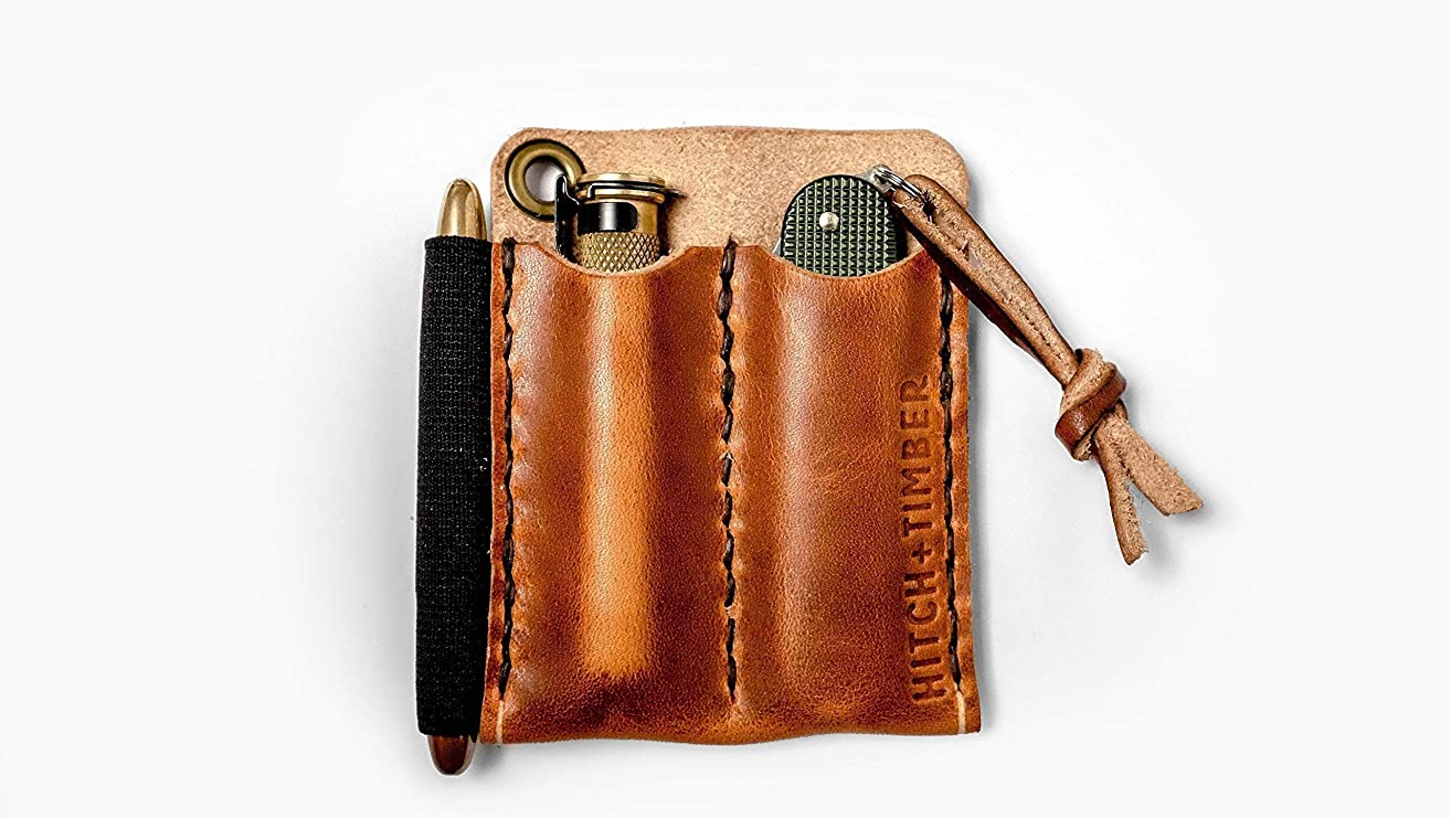 The Pocket Runt 2.0 - Double Leather EDC Slip for Everyday Carry