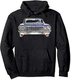 64 Impala Front T-Shirt Lowrider Mens Pullover Hoodie