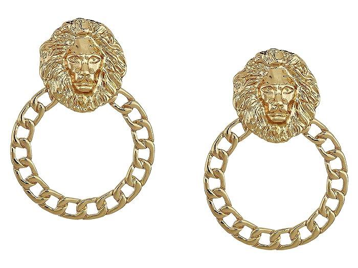 8 Other Reasons  Leo Hoops Earrings (Gold) Earring