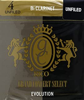 Rico Grand Concert Select Evolution Bb Clarinet Reeds, Strength 4.0, 10-pack