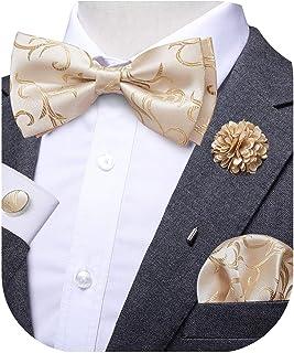 Leopardato Pre Legato Elastico Dicky Bow per Matrimoni ecc. Papillon Moda di Seta