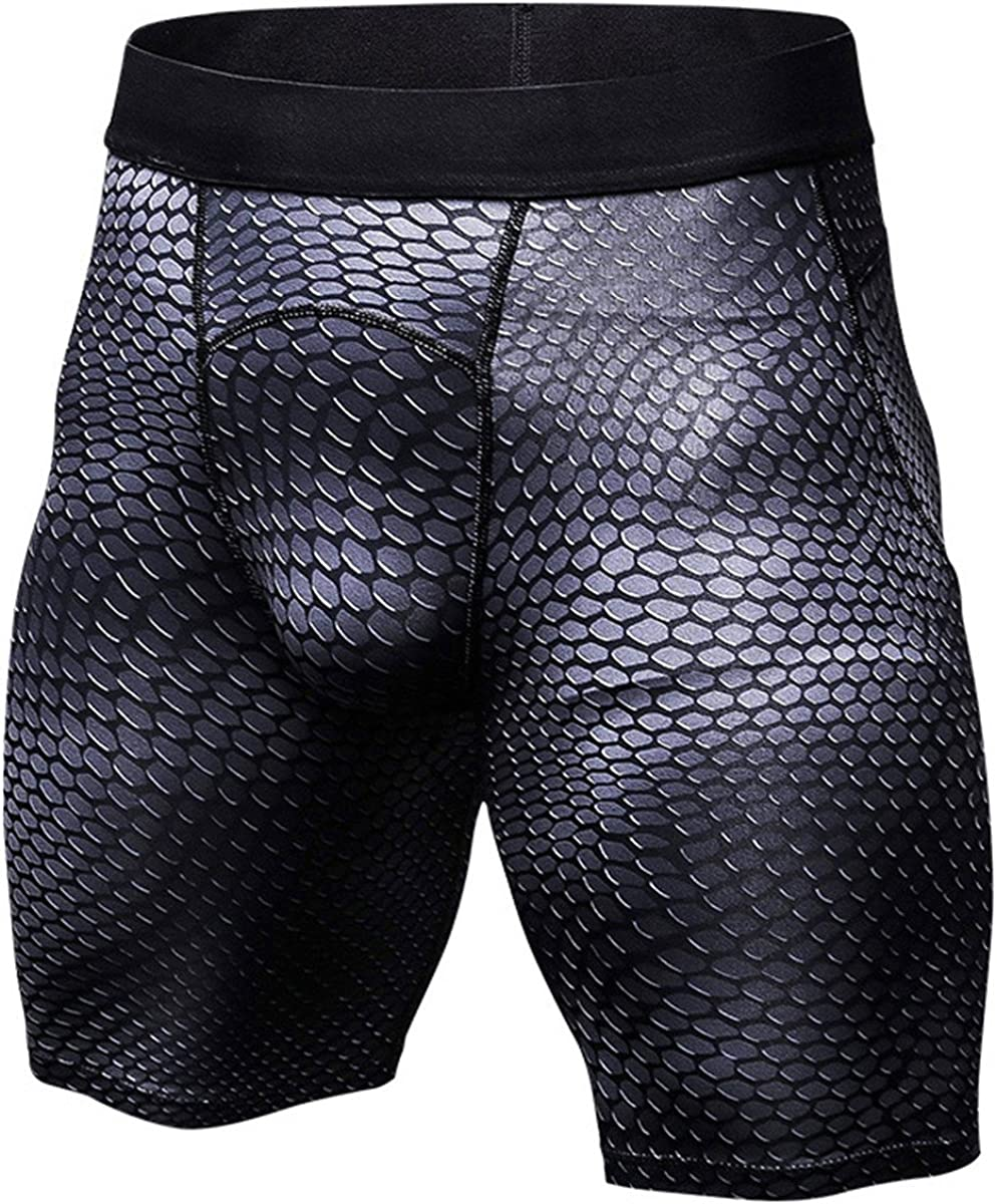 SANANG Mens 3 Pack Performance Compression Shorts Baselayer Sports Fitness Tights