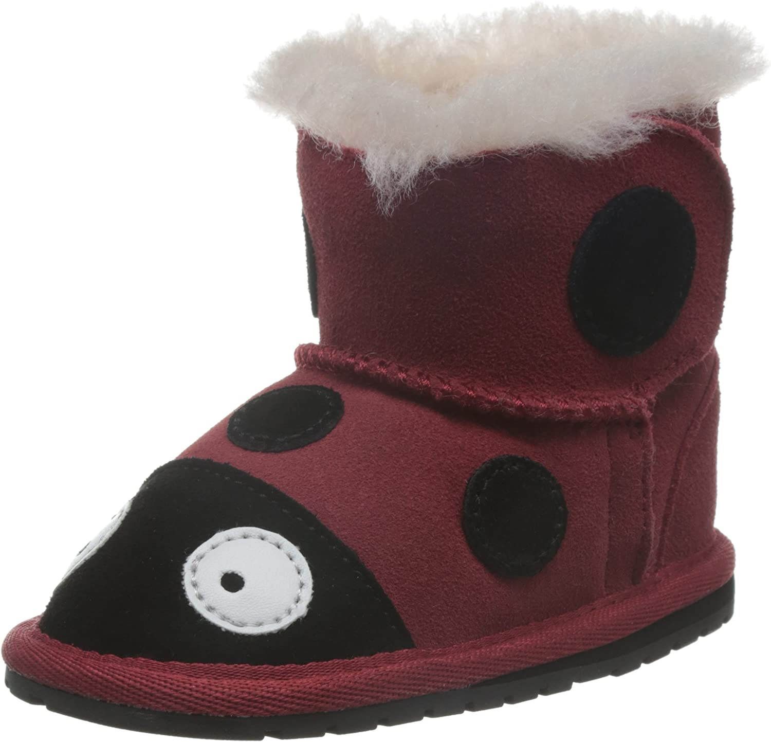 EMU Australia Lady Bird First Walker Boot (Infant) Red