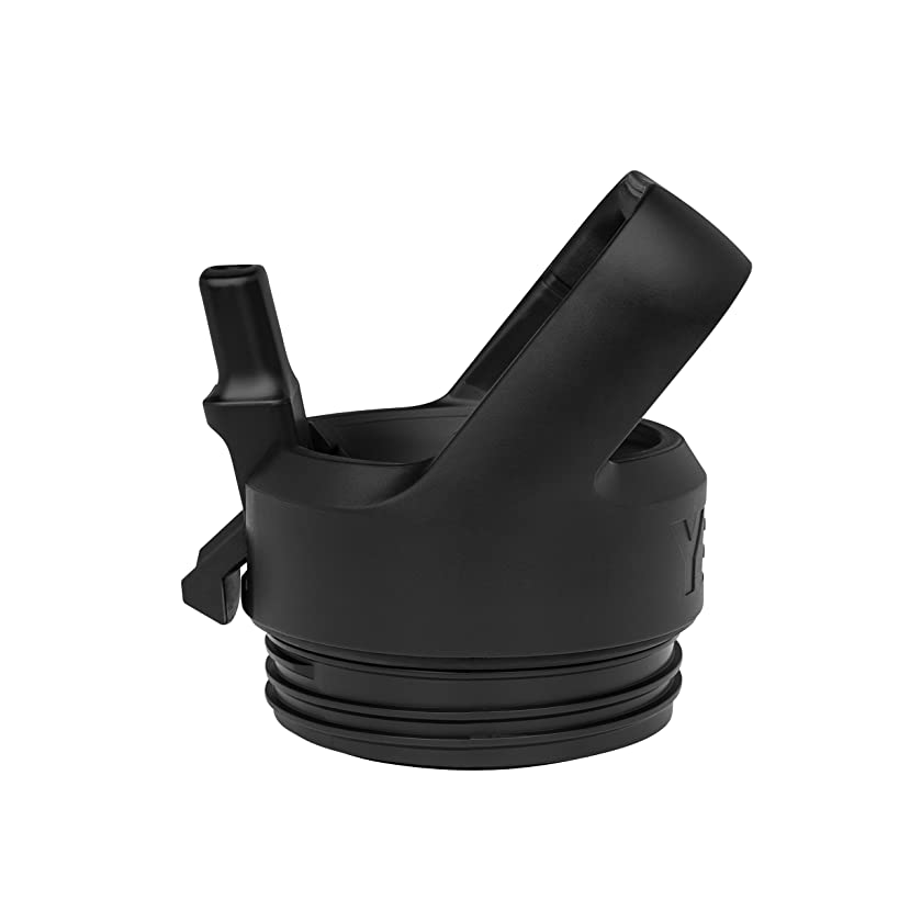 YETI 18050110000 Bottle Straw Cap Rambler, 1 EA, Black
