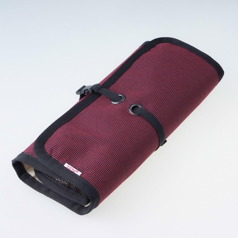 WANPOOLデータケーブル収納バッグデジタルアクセサリーパッケージ携帯充電器モバイルハードディスクUディスク充電宝物カードリーダー仕上げバッグアウトドア旅行デジタルパッケージ仕上げパッケージ電子製品収納バッグ多機能収納バッグ(赤)