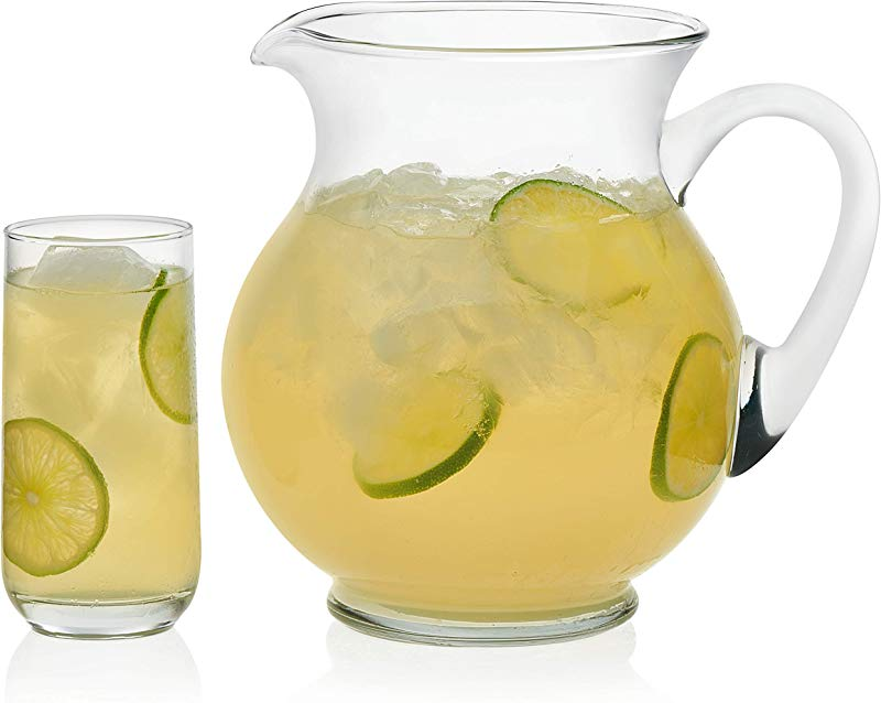 Libbey Acapulco Glass Entertaining Set With 4 Glasses And Pitcher