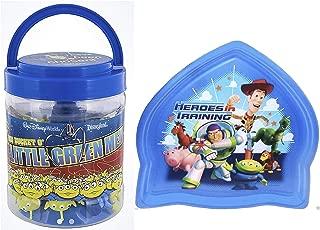 Disney Parks Exclusive Toy Story Big Bucket O Little Green Alien Men Plus Bonus Rocket Shaped Plastic Plate