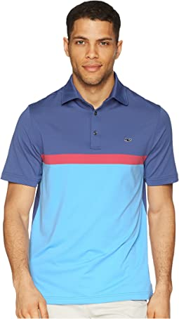 Vineyard Vines Golf Mcgovern Engineer Stripe Sankaty Performance Polo