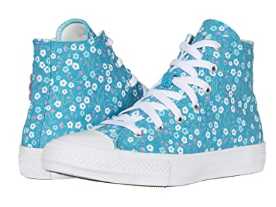 Converse Kids Chuck Taylor(r) All Star(r) Floral (Little Kid/Big Kid) (Rapid Teal/Peony Pink/White) Girl
