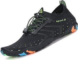Zapatos de Agua para Buceo Snorkel Surf Piscina Playa Vela Mar Río Aqua Cycling Deportes Acuáticos Calzado de Natación Escarpines para Hombre Mujer