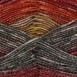 King Cole Shine DK Double Knitting Yarn 100g Ball Acrylic Wool with Sparkle Detail (Safari- 3085)