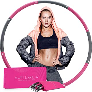 Purple-white 6 Section Weighted Hoola Hoops for Adults Weighted Waist Hoola Hoop Weighted Hoola Hoops Weighted Smart Hoola Hoop Dynamis Hoola hoop Hoola Hoop Detachable Suitable for Beginners