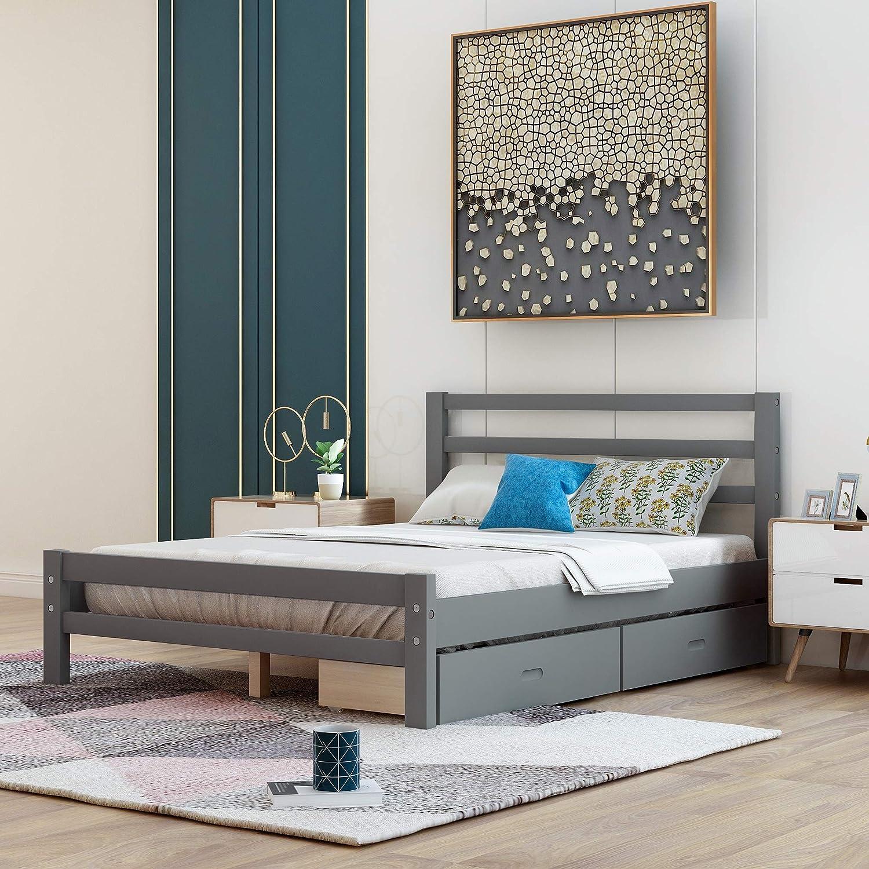 Knocbel Solid Wood Platform Bed Outlet ☆ Free Shipping Woo Foundation Mattress 10 Frame 2021