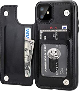 iPhone 11 Case with Card Holder, Rumanle PU Leather Kickstand Card Slots Case,Double Magnetic Clasp and Durable Shockproof...