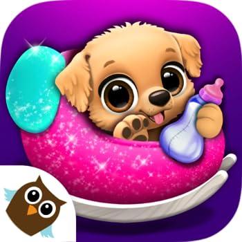 FLOOF - Ma maison d'animaux - Jeux de chiens et chats mignons - Jeux pour les filles et les garçons : soins des animaux, puzzle, mémoire, cuisine et déguisements !
