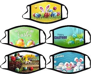 TEGT Herhaalbare mondbescherming voor Pasen, 11 stuks, voor volwassenen, gezichtsbescherming, neusbescherming, zijde, adem...