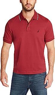 NAUTICA Men's Classic Fit Short Sleeve Dual Tipped Collar Polo Shirt