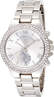 U.S. Polo Assn. USC40026 Women's Quartz Watch, Analog Display and Stainless Steel Strap