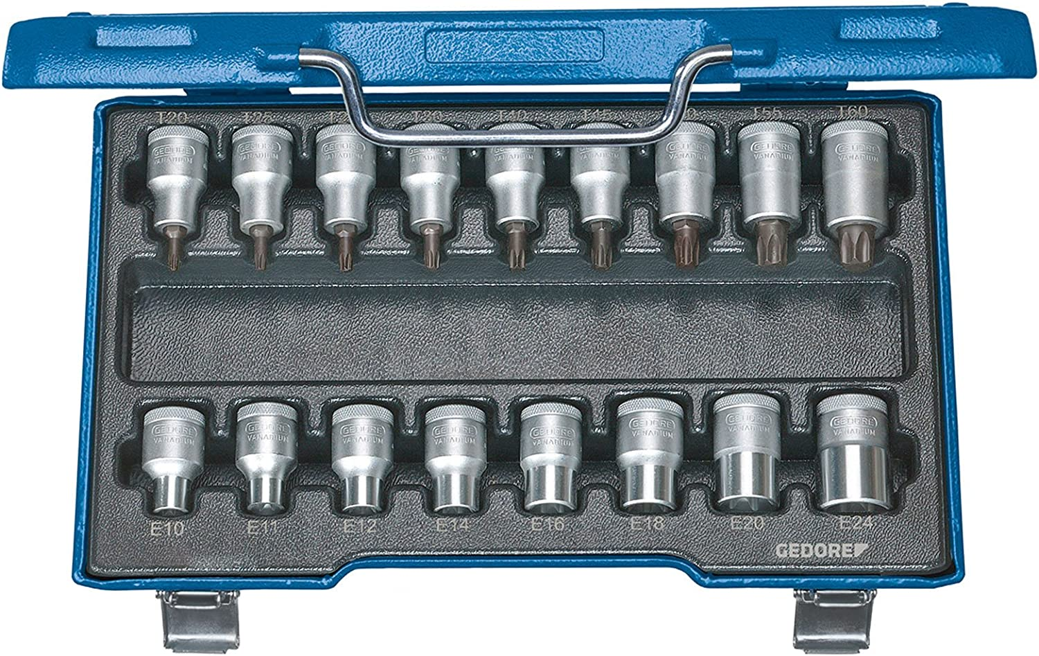 GEDORE ITX 19 Inventory cleanup selling sale TX-017 New product!! Screwdriver bit Socket 17 TORX pcs Set 2