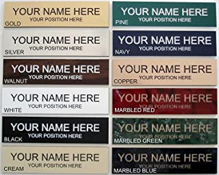 Name Plate Choose Color 2x8 - Laser Engraved - Customize