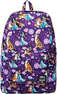 Loungefly Disney's Aladdin- Jasmine and Rajah Print Backpack Standard