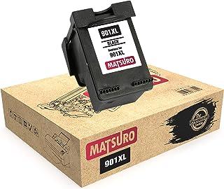 Matsuro Original   Compatible Remanufactured Cartucho de Tinta Reemplazo para HP 901XL 901 (1 Negro)