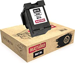 Matsuro Original | Compatible Remanufactured Cartucho de Tinta Reemplazo para HP 901XL 901 (1 Negro)